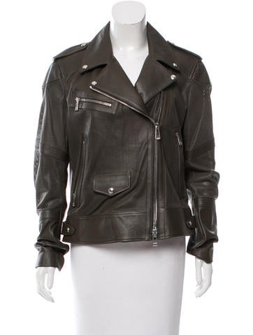 Belstaff Perforated Leather Jacket None