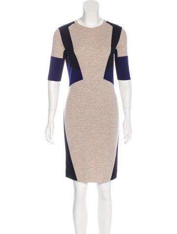 Belstaff Wool Three-Quarter Sleeve Dress None