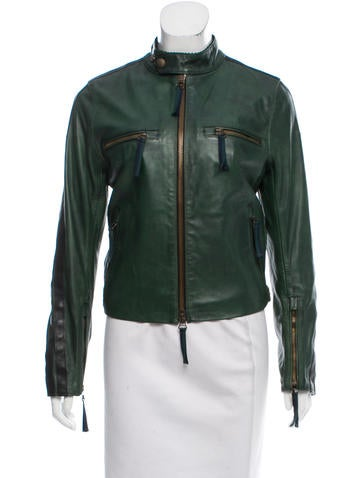 Belstaff Leather Moto Jacket None