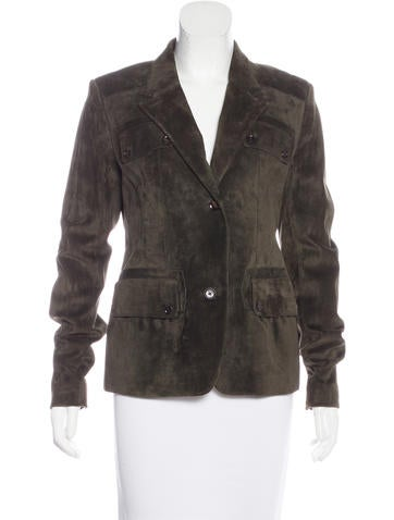 Belstaff Suede Notch-Lapel Blazer w/ Tags None