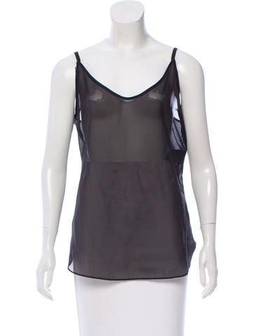 Belstaff Sleeveless Chiffon Top None