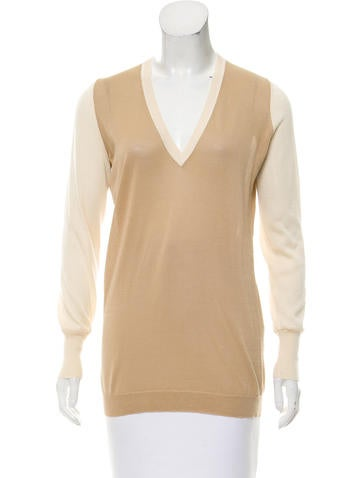 Belstaff Two-Tone V-Neck Sweater None