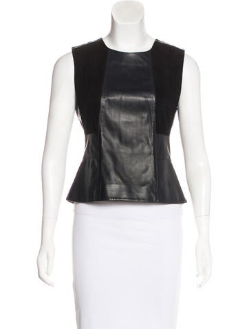 Belstaff Leather Sleeveless Top None