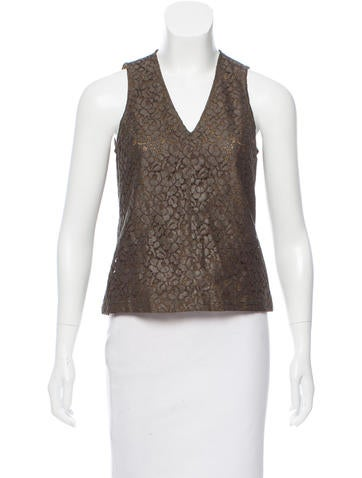 Belstaff Sleeveless Lace Top None