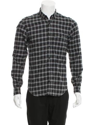 Belstaff Plaid Button-Up Shirt None
