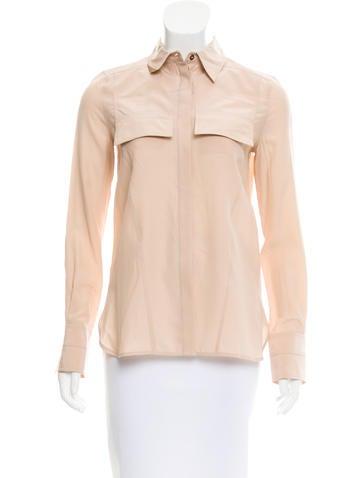 Belstaff Silk Button-Up Top None