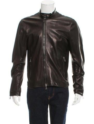 Belstaff Leather Cafe Racer Jacket None