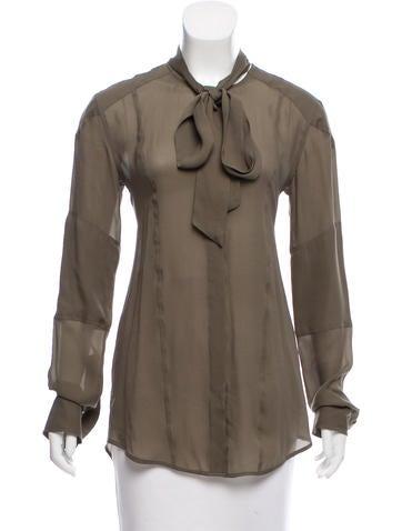 Belstaff Silk Button-Up Top w/ Tags None