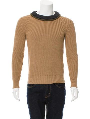 Belstaff Wool Rib Knit Sweater None