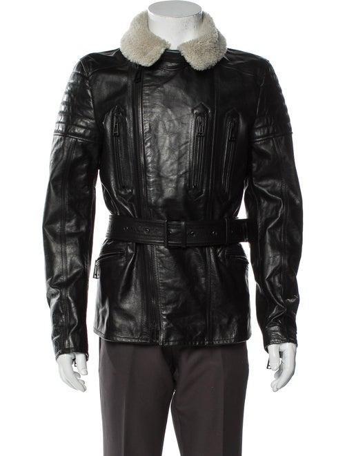 Belstaff Leather Moto Jacket Black