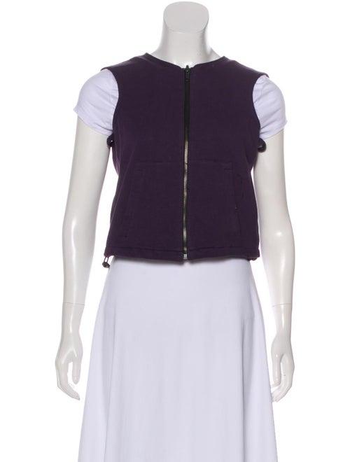 Belstaff Zip-Up Knit Vest Purple