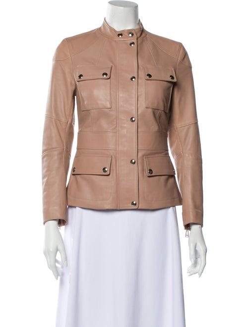 Belstaff Leather Utility Jacket Pink