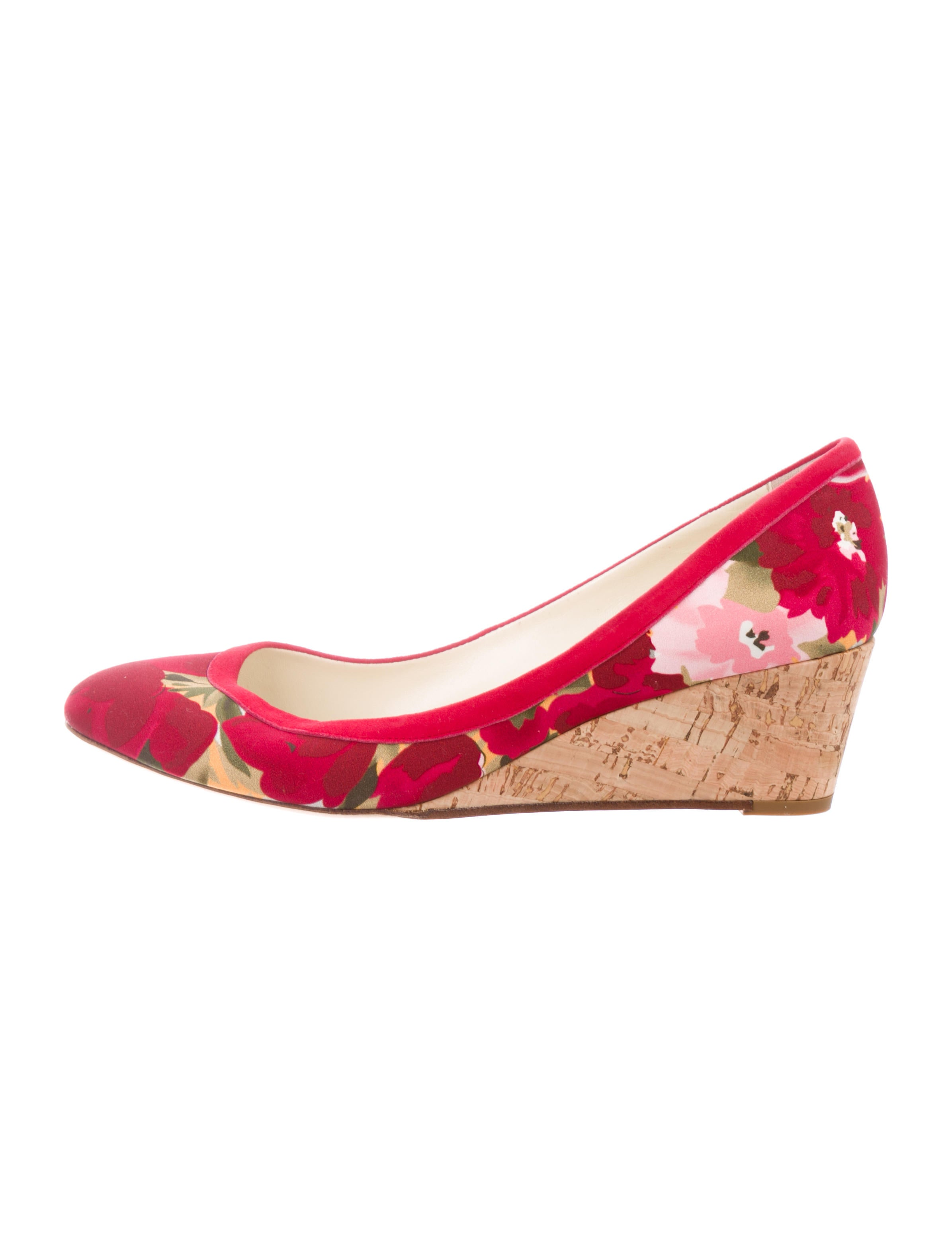 Bettye Muller Floral Print Wedges clearance geniue stockist big discount for sale s1Uf4h3