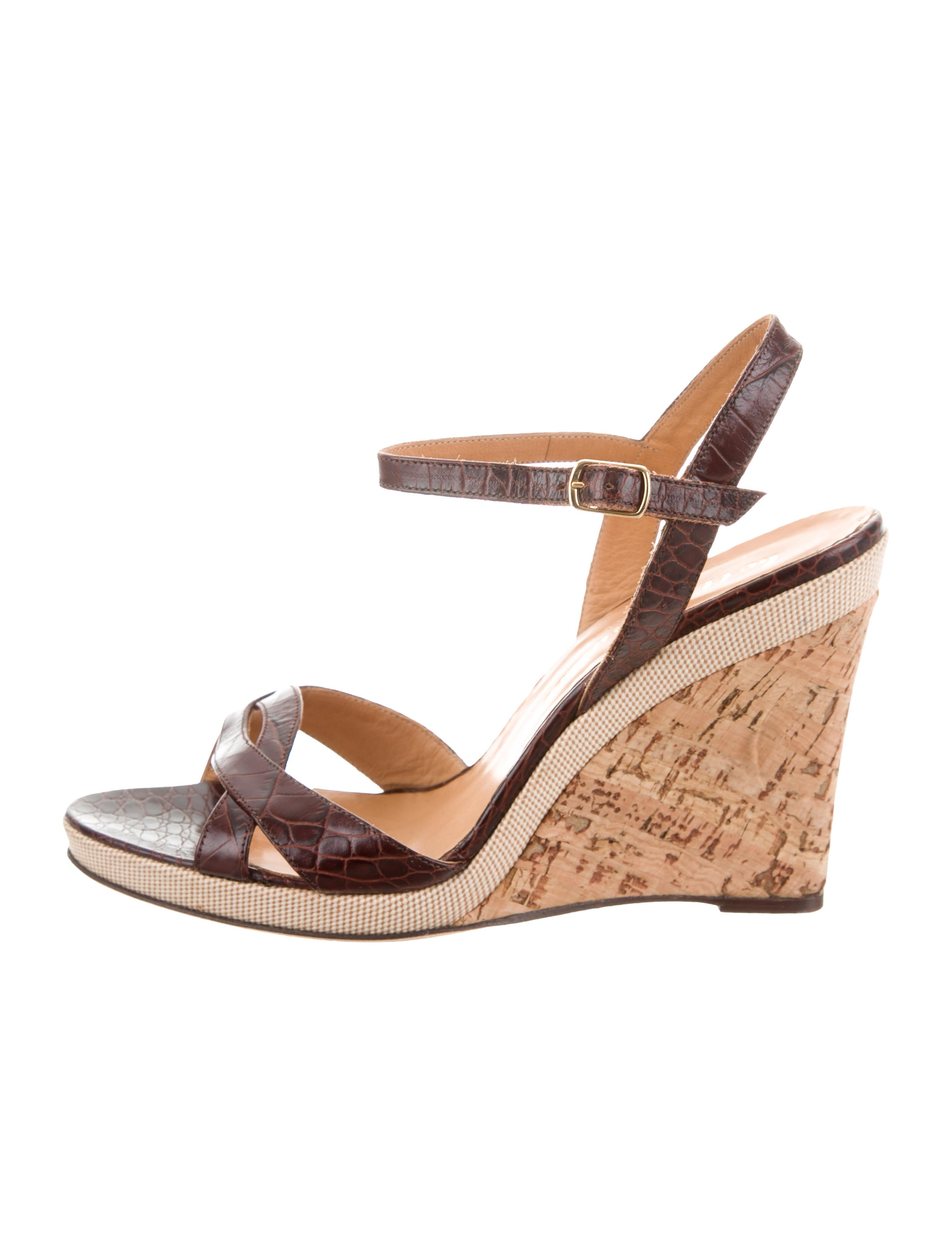 cheap Inexpensive Bettye Muller Embossed Ankle-Strap Sandals sale best seller MPxMHBng7O