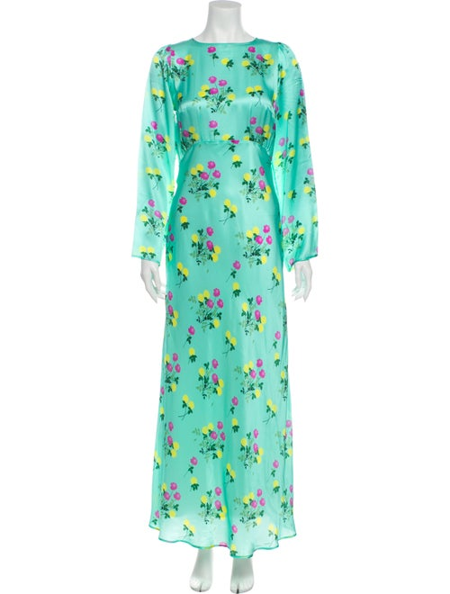 Bernadette Silk Long Dress Green