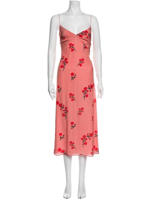 Bernadette Silk Floral Print Nightgown Pink