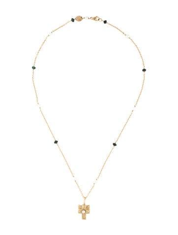Bettina Duncan Tourmaline & Pearl Pendant Necklace