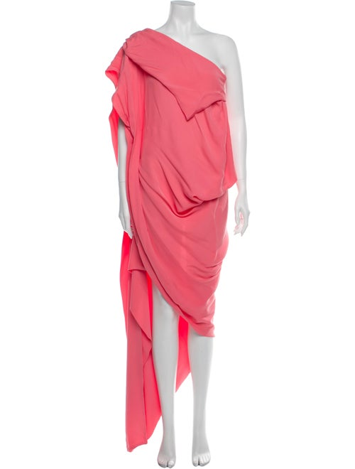 Bernhard Willhelm Silk Knee-Length Dress Pink