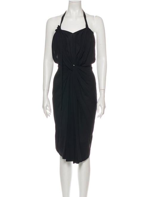 Bernhard Willhelm Silk Knee-Length Dress Black