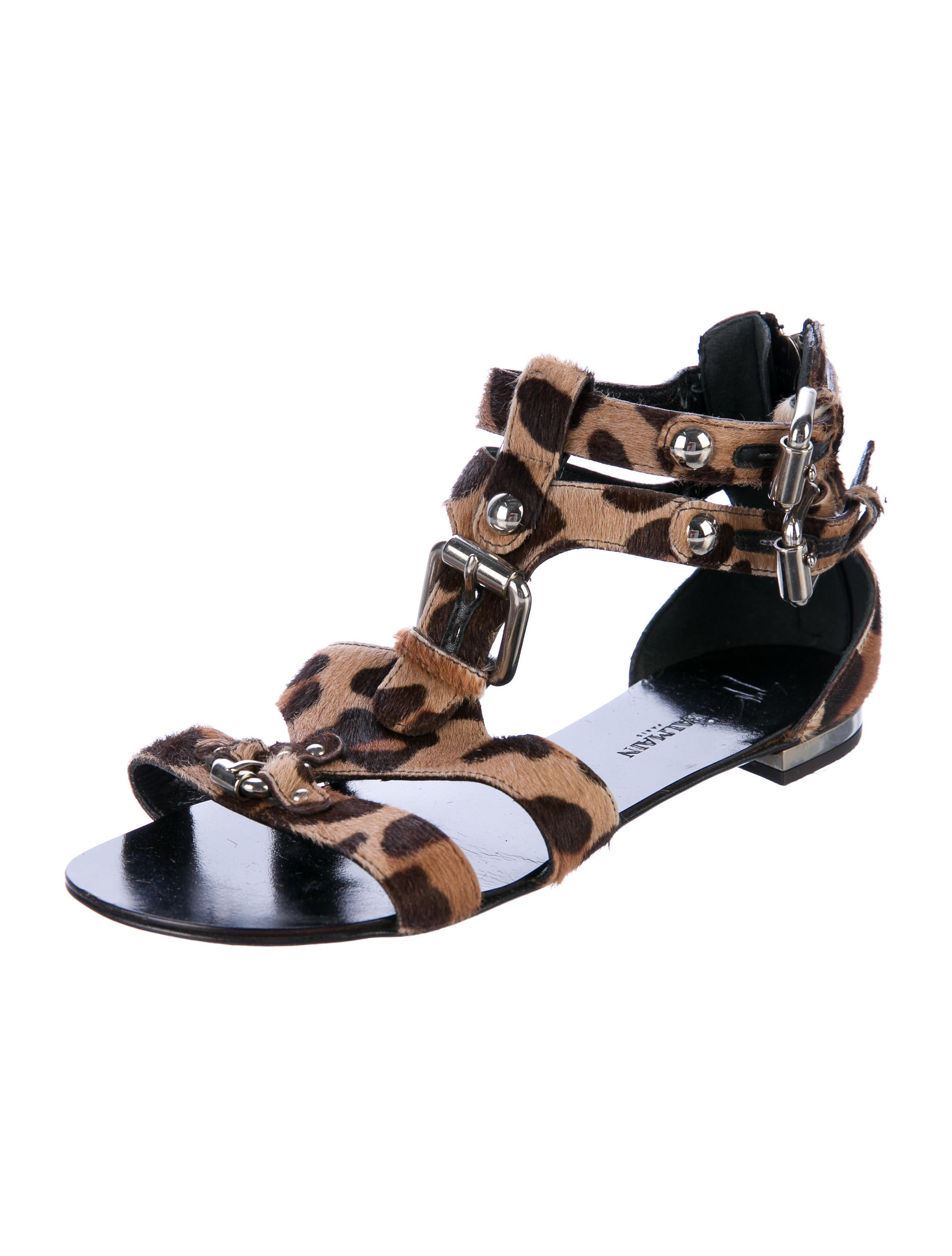 with mastercard sale online Giuseppe Zanotti x Balmain Ponyhair Cage Sandals buy cheap low shipping sN4IpV