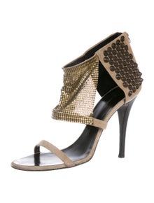 7fd3ff1634 Giuseppe Zanotti x Balmain. Embellished Suede Sandals