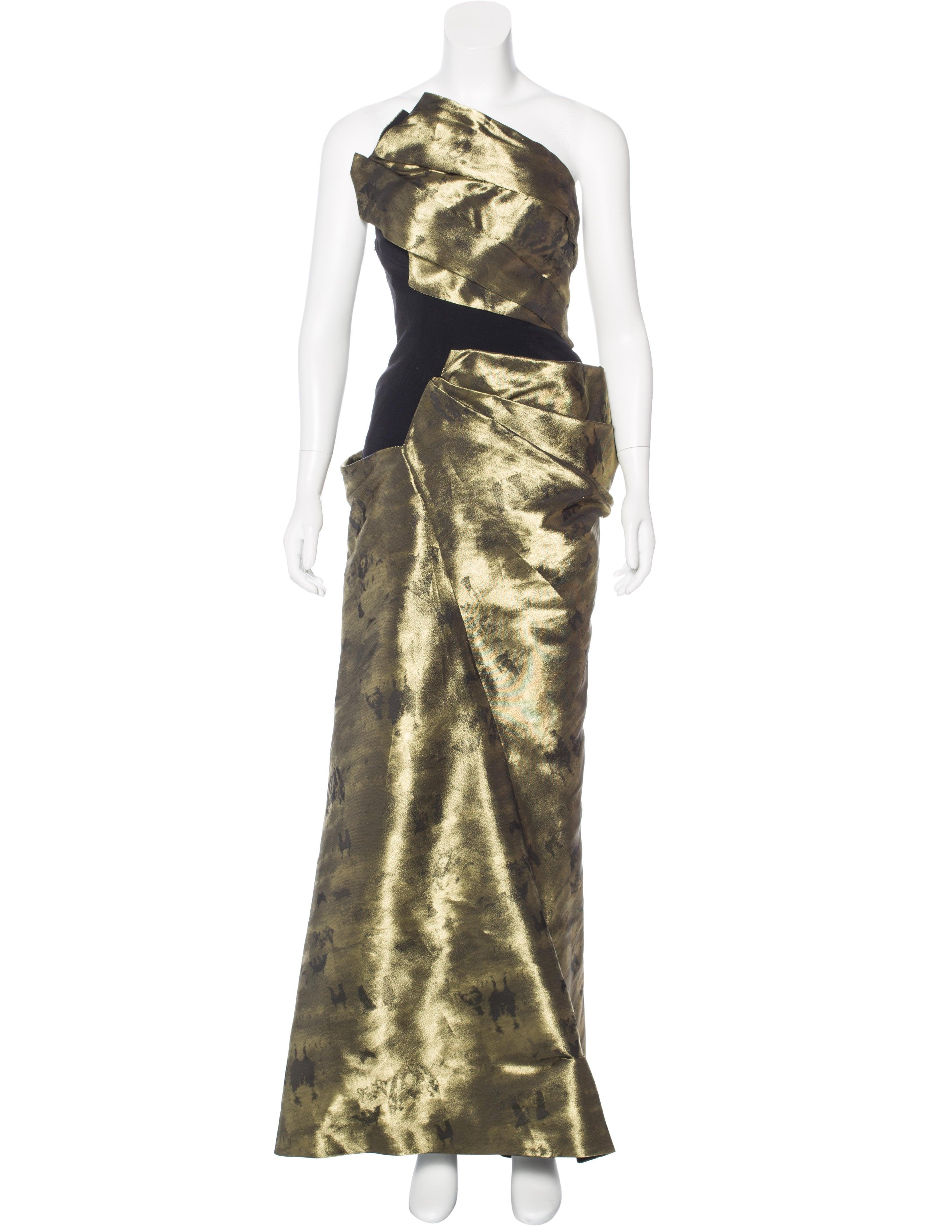 Bibhu Mohapatra Pleated Metallic Gown - Dresses - BIB20186 | The ...