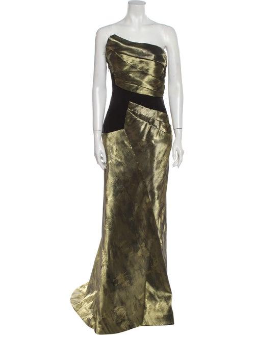 Bibhu Mohapatra Strapless Long Dress Gold