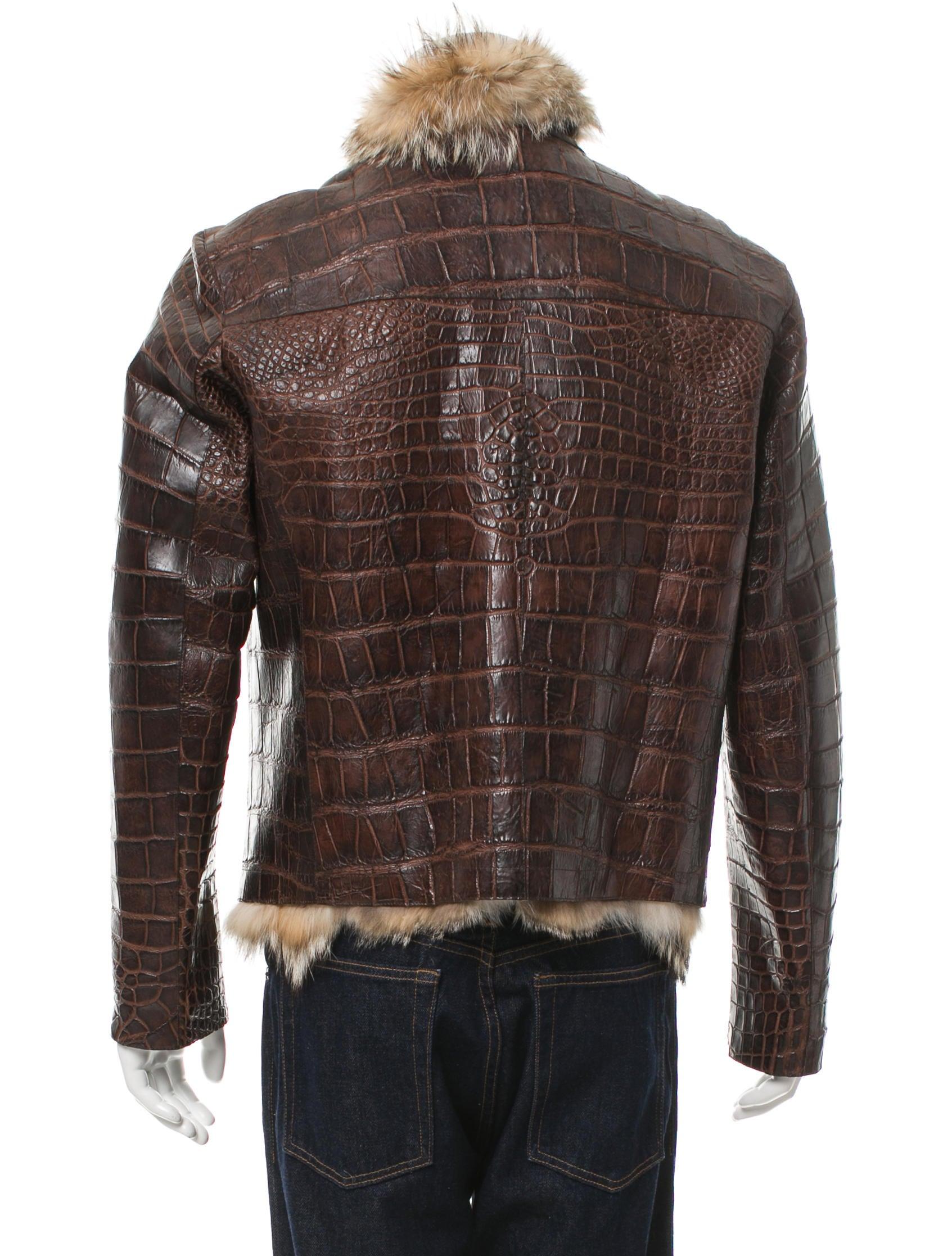 Crocodile Leather Jacket Company Cairoamani Com