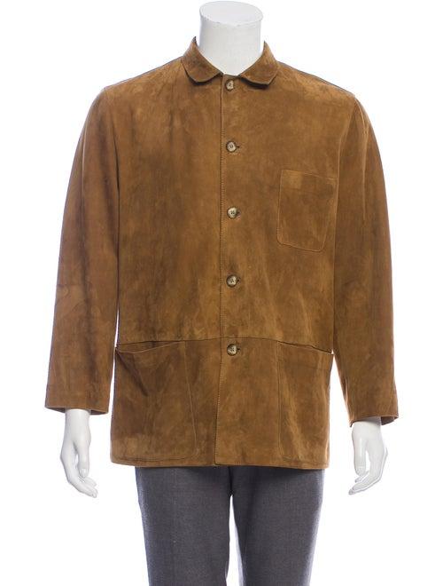 Bijan Suede Shirt Jacket