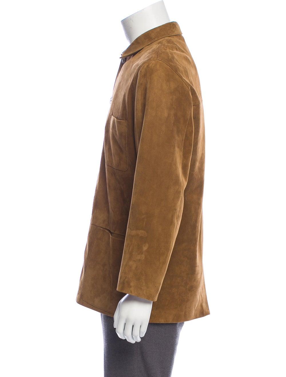 Bijan Suede Shirt Jacket - image 2