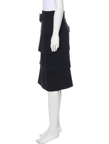Knee-Length Ruched Skirt