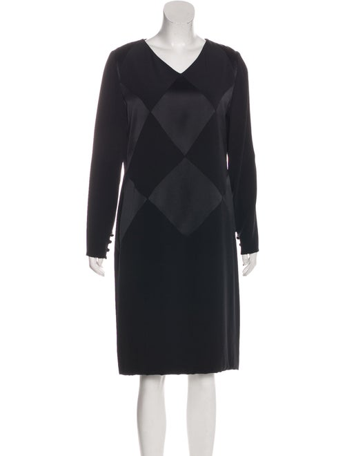 Bill Blass Vintage Harlequin Dress black