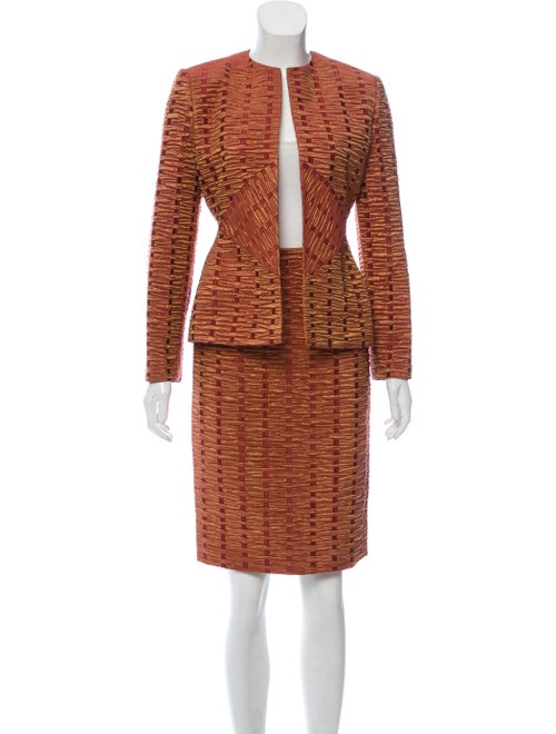 Bill Blass Textured Skirt Suit