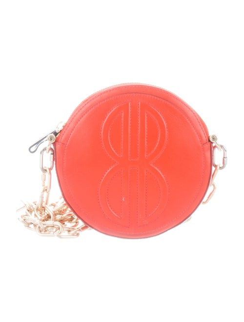Bill Blass Monogrammed Leather Crossbody orange