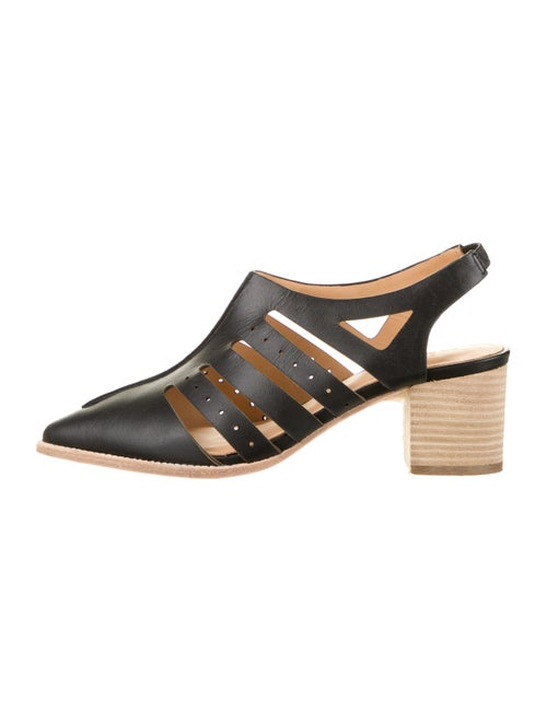 Bill Blass Leather Cutout Pumps Black