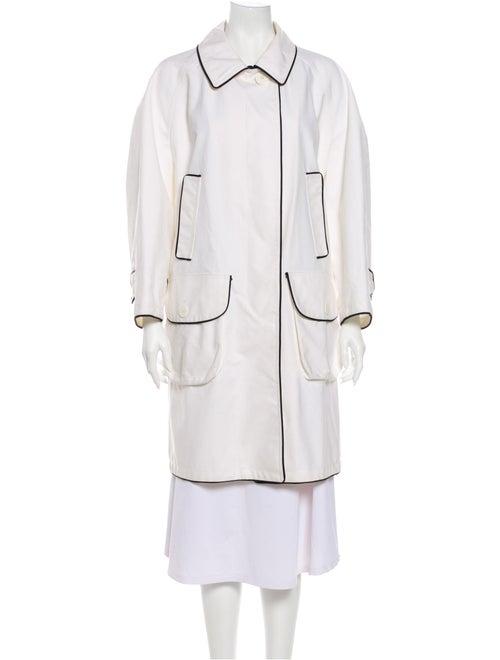 Bill Blass Trench Coat White