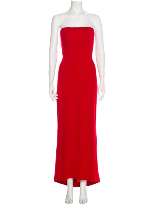 Bill Blass Strapless Midi Length Dress Grey