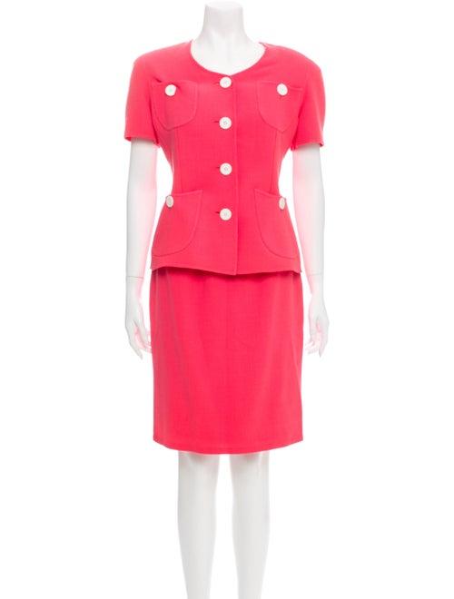 Bill Blass Vintage Skirt Set Pink