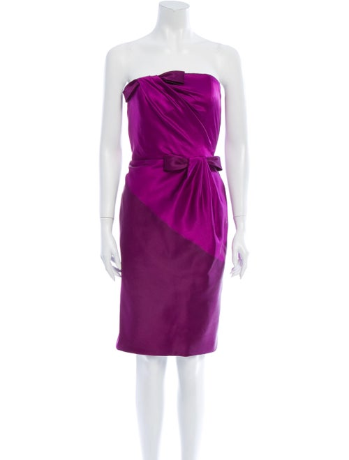 Bill Blass Strapless Mini Dress Purple