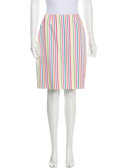 Bill Blass Striped Knee-Length Skirt
