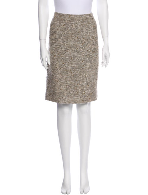 Bill Blass Tweed Pattern Knee-Length Skirt