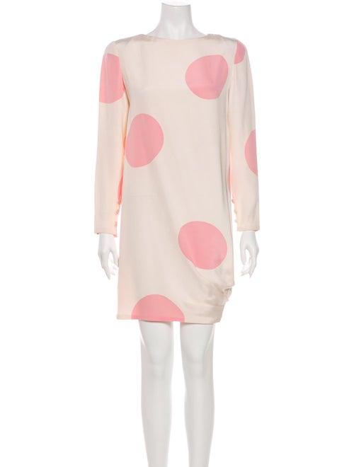 Bill Blass Polka Dot Print Mini Dress