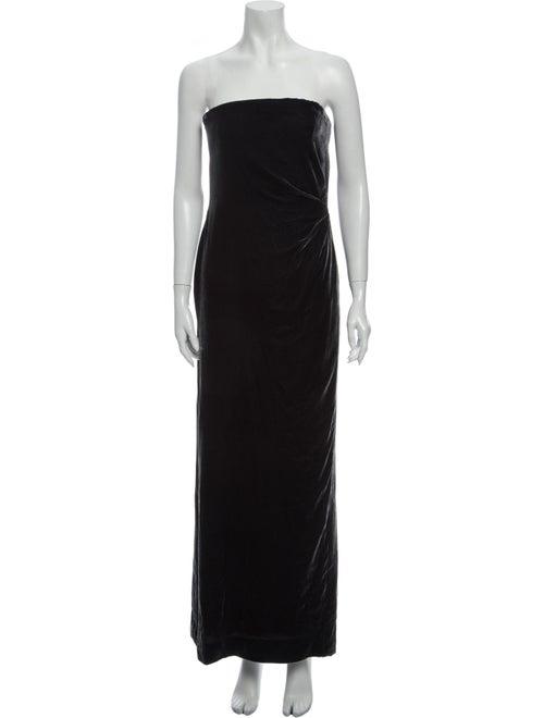Bill Blass Strapless Long Dress Black