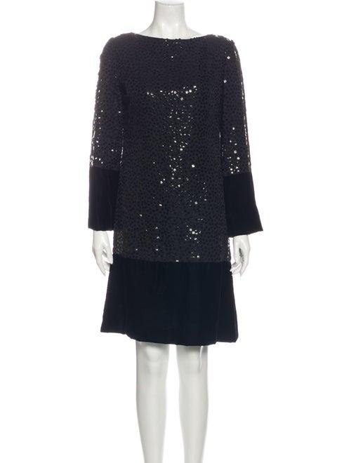 Bill Blass Vintage Knee-Length Dress Black