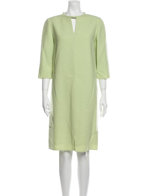 Bill Blass Vintage Knee-Length Dress Green