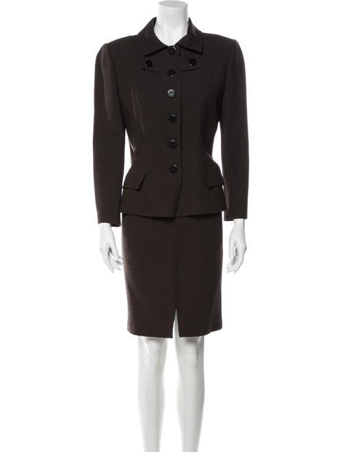 Bill Blass Vintage Skirt Suit Brown