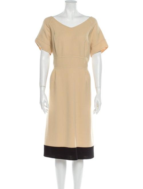 Bill Blass Scoop Neck Midi Length Dress