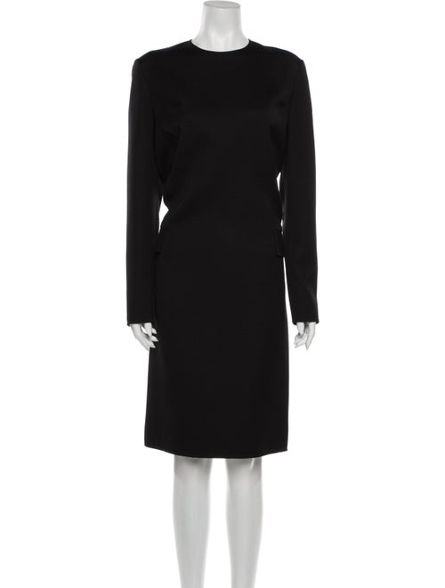 Bill Blass Vintage Midi Length Dress Black