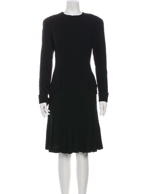 Bill Blass Wool Knee-Length Dress Wool