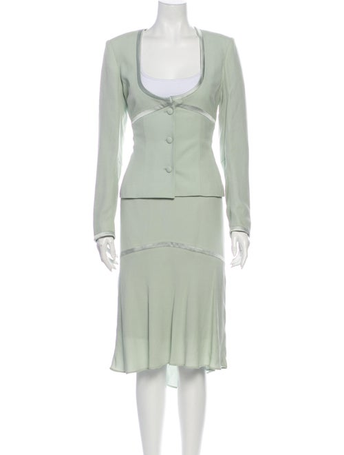 Bill Blass Skirt Suit Green